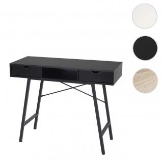 Konsolentisch HWC-E92, Ablagentisch Beistelltisch, 3D-Struktur 100x40cm ~ schwarz