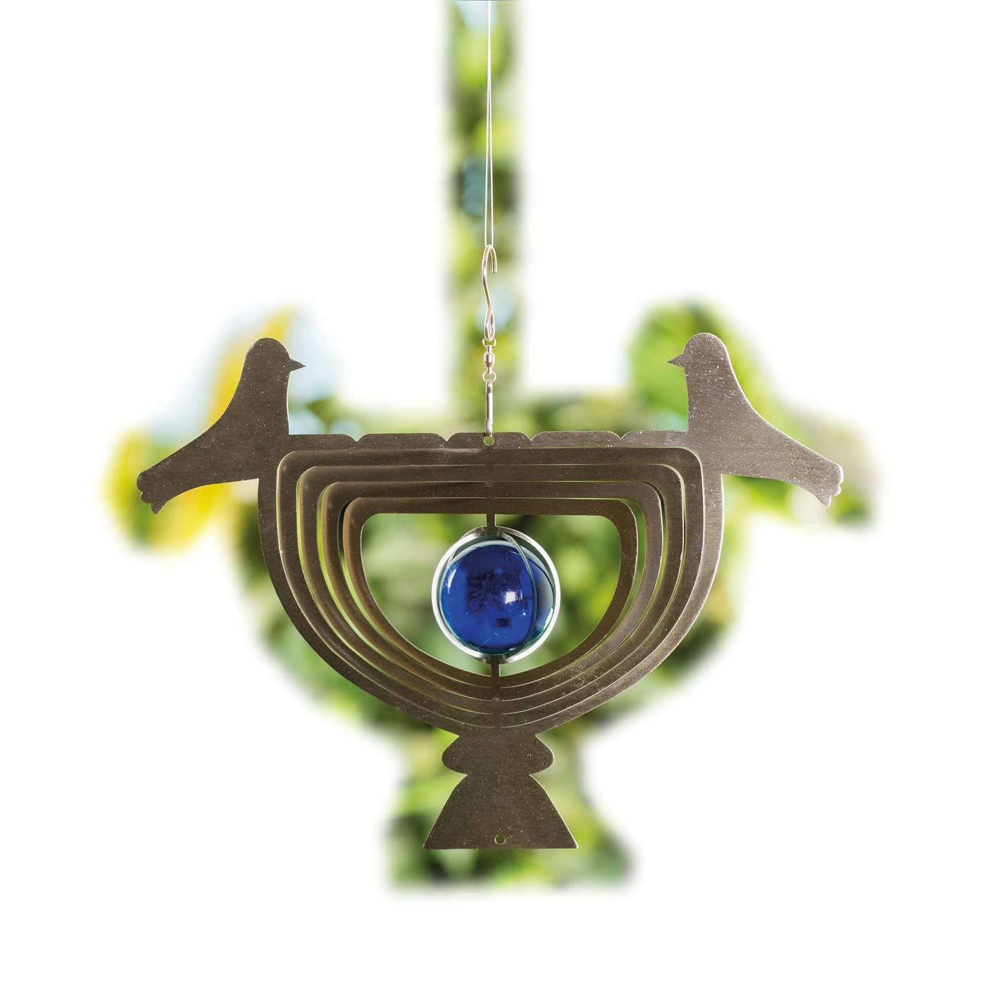 3D Windspiel HE26, Gartendeko Fensterdeko Dekohänger, Edelstahl ...