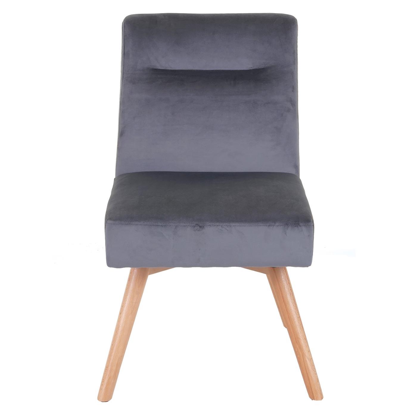 Esszimmerstuhl HWC F38, Stuhl Küchenstuhl, Retro Design Samt