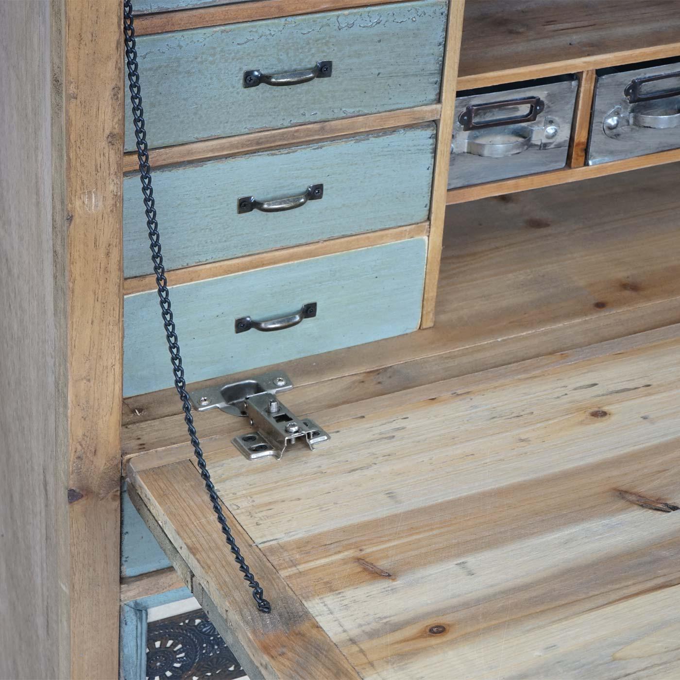 Sekretar Hwc A43 Kommode Schrank Tanne Holz Massiv Vintage