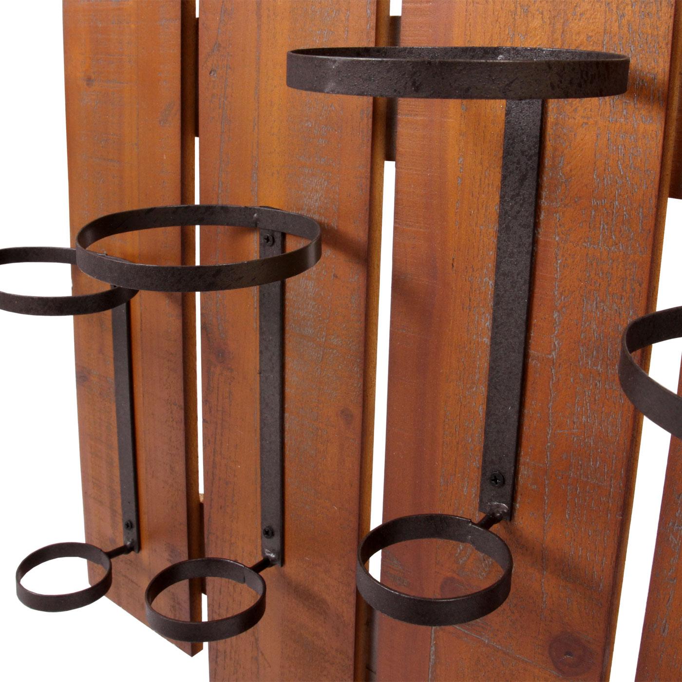 weinregal hwc b99 wandregal flaschenhalter holz metall f r 5 flaschen 60x60x12cm kaufen bei. Black Bedroom Furniture Sets. Home Design Ideas