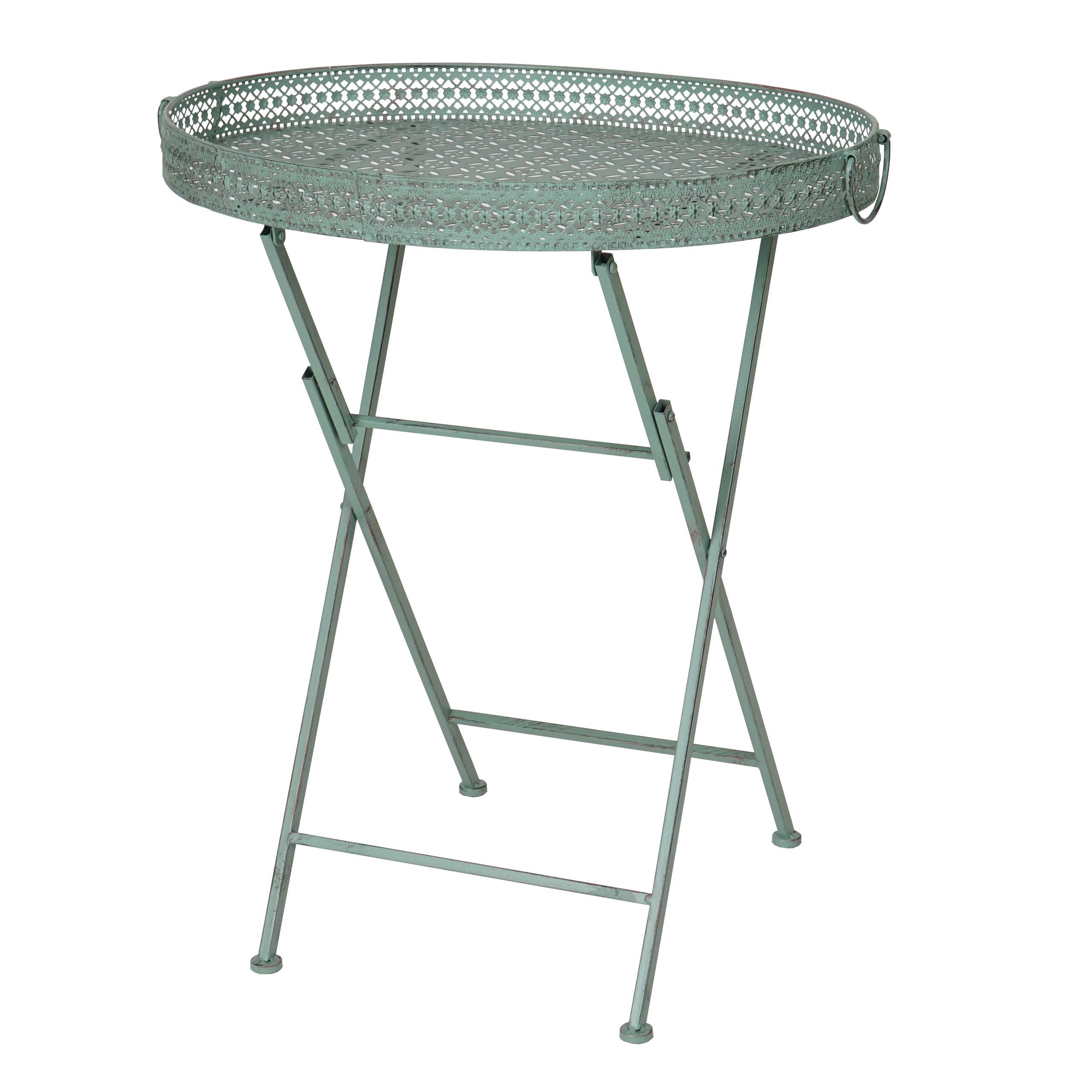 Klapptisch Hwc C39 Gartentisch Klappbar Metall Antik Grun Kaufen