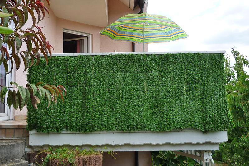 Sichtschutz balkon terrasse zaun tanne breit 300 x 100 cm for Sichtschutz durch pflanzen