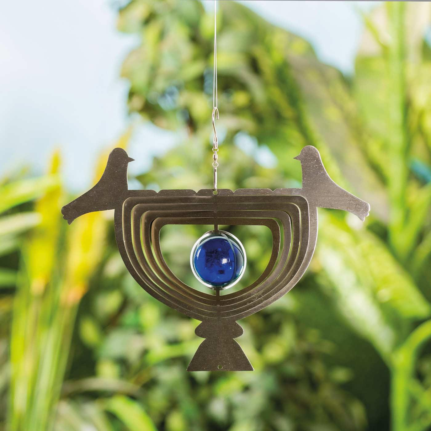 3D Windspiel HE26, Gartendeko Fensterdeko Dekohänger, Edelstahl 22x30cm, ...