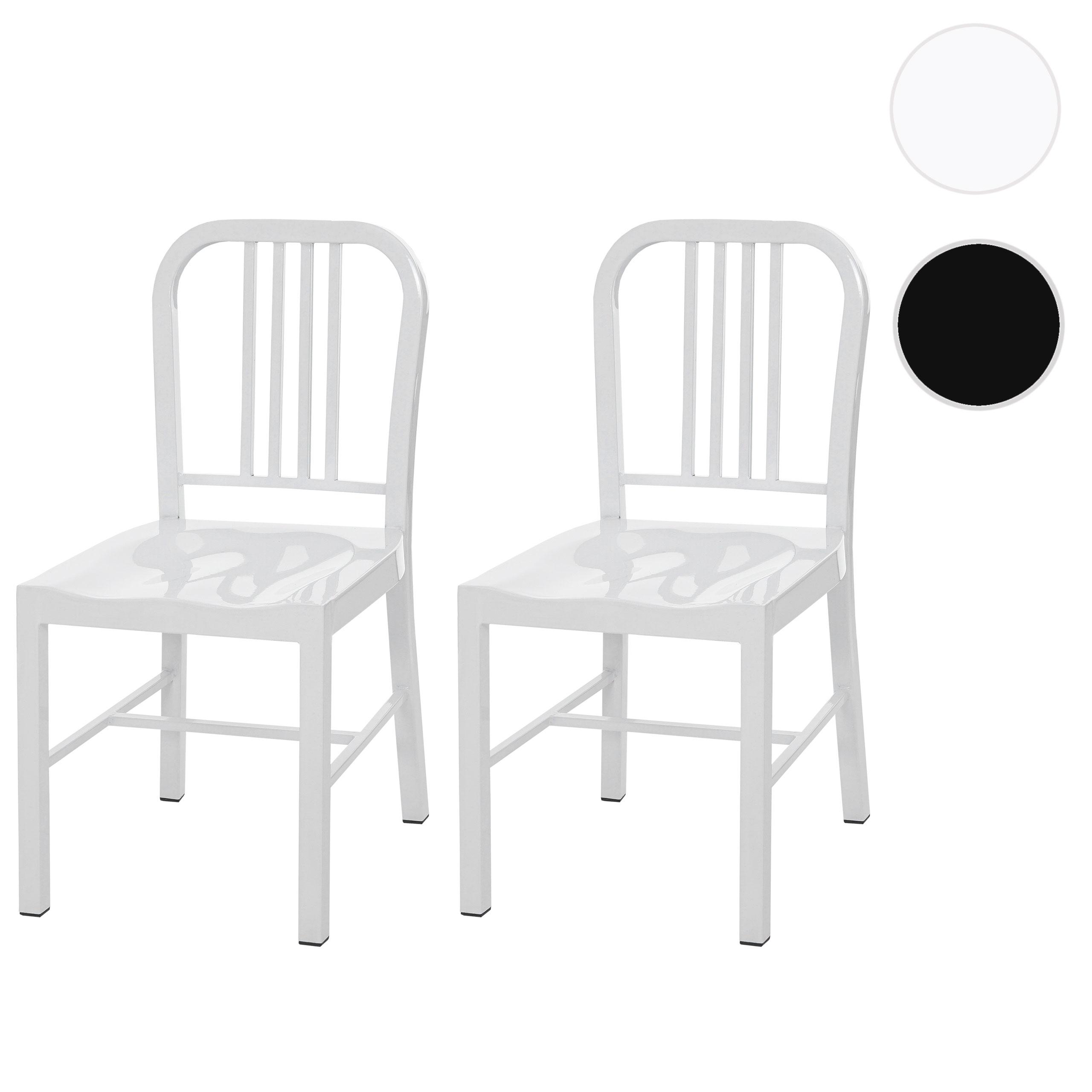 2x Esszimmerstuhl Hwc A73 Stuhl Kuchenstuhl Metall
