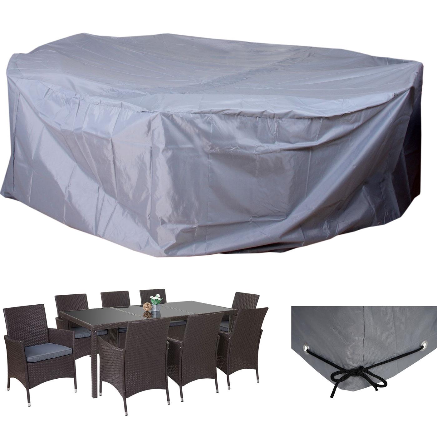 abdeckplane abdeckhaube schutzplane schutzh lle f r garnituren beschichtetes polyester grau. Black Bedroom Furniture Sets. Home Design Ideas