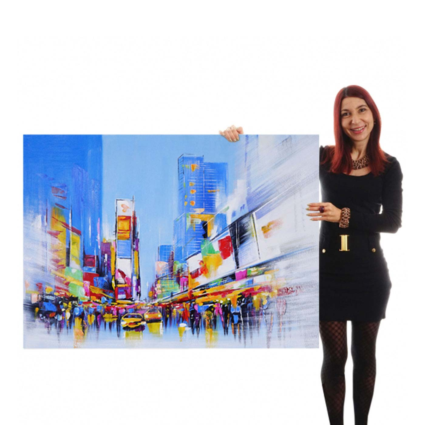 Ölgemälde Times Square, 100% handgemaltes Wandbild Gemälde XL ...
