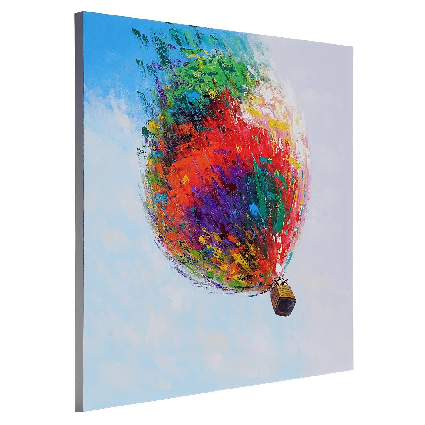 lgem lde hei luftballon 100 handgemaltes wandbild gem lde xl 100x100cm kaufen bei mendler. Black Bedroom Furniture Sets. Home Design Ideas