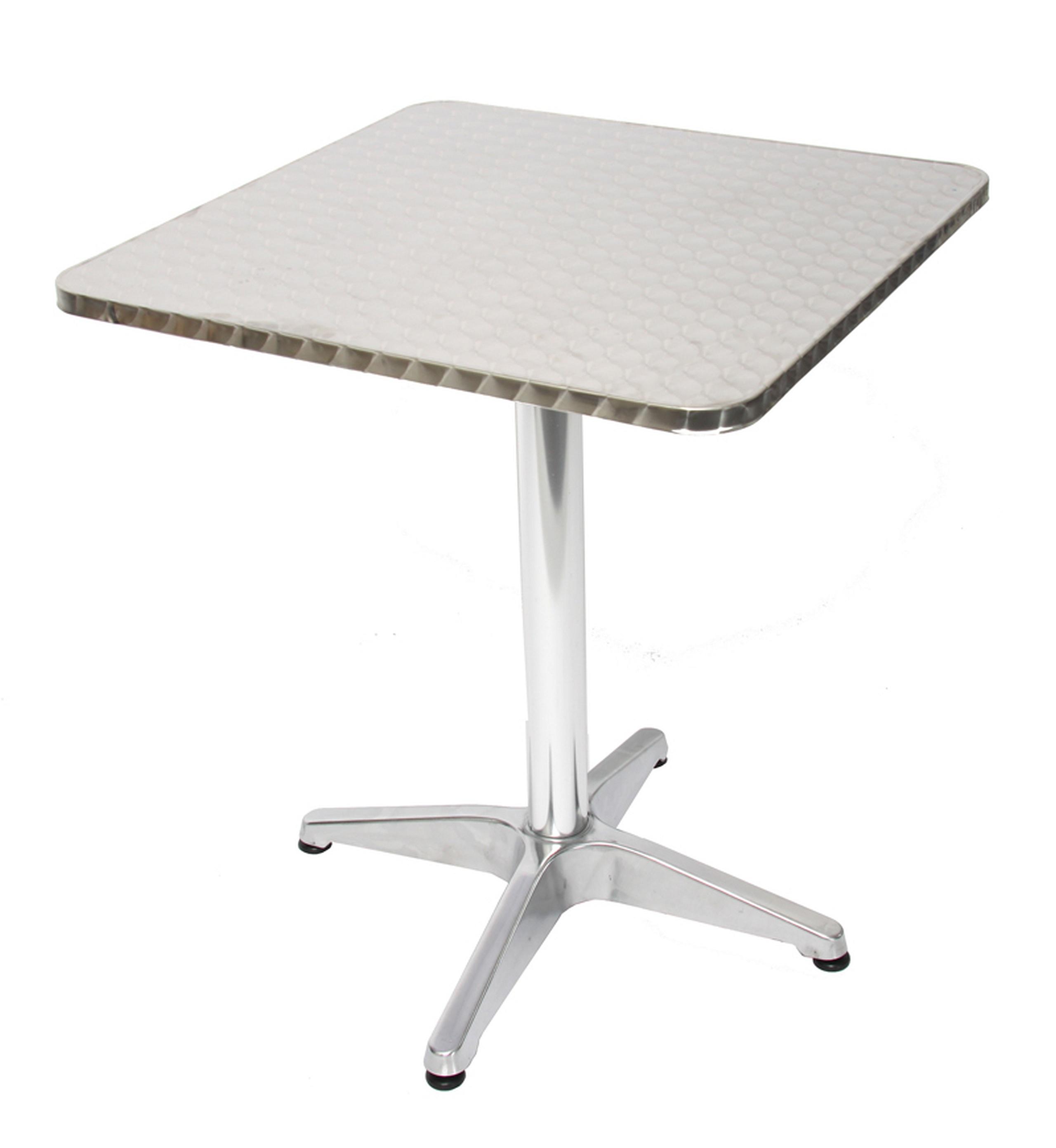 Alu Tisch Bistrotisch Eckig Wetterfest 60x60x70cm Kaufen Bei