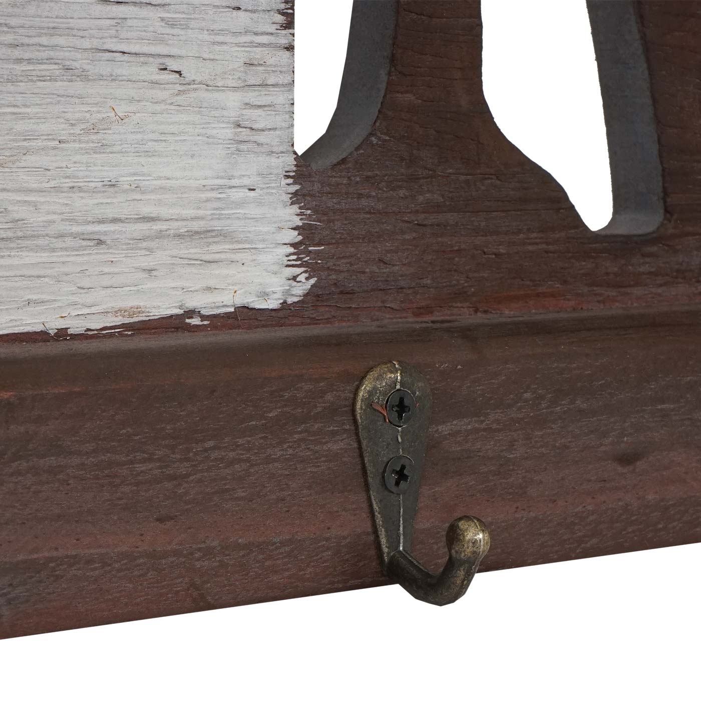 Wandgarderobe Hwc A91 Home Garderobenpaneel Landhaus Holz Metall