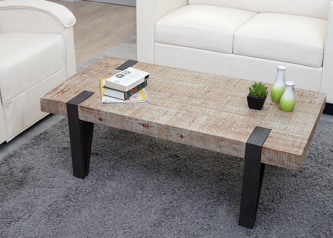 Astounding Couchtisch Holz Rustikal Ideen Von Hwc-a15b, Wohnzimmertisch, Tanne Massiv 40x120x60cm 2