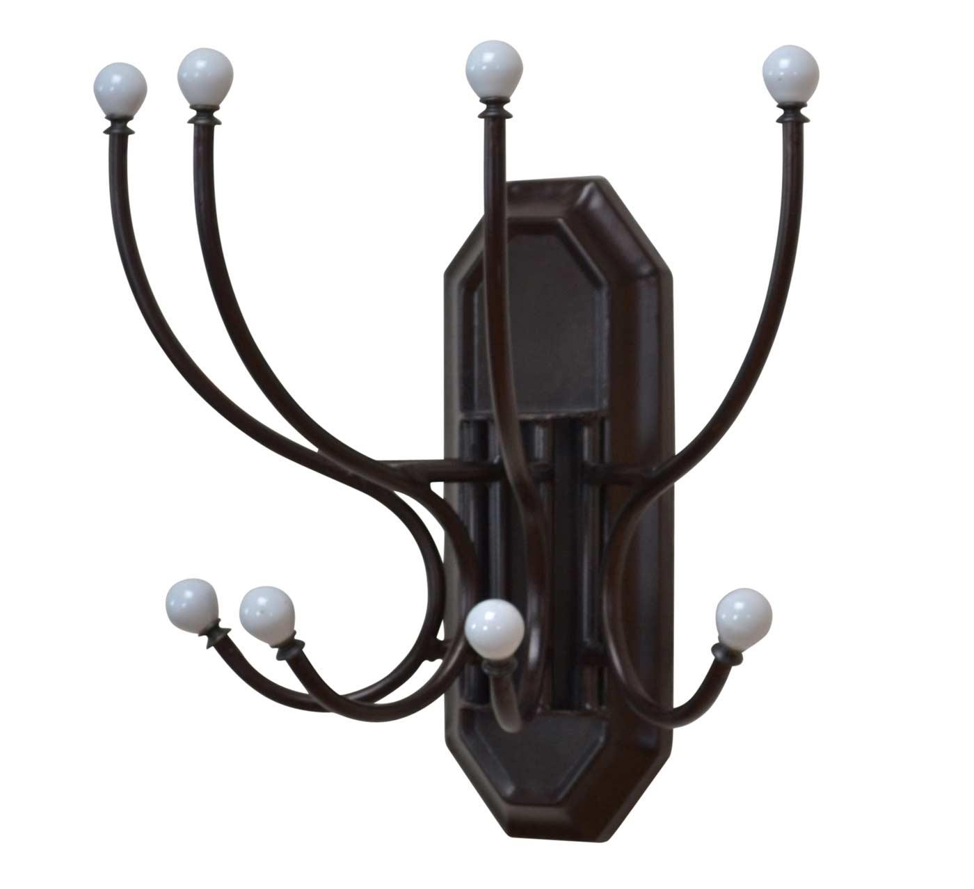 Wandgarderobe H10 Garderobenhaken Garderobe Metall 38x37x20cm