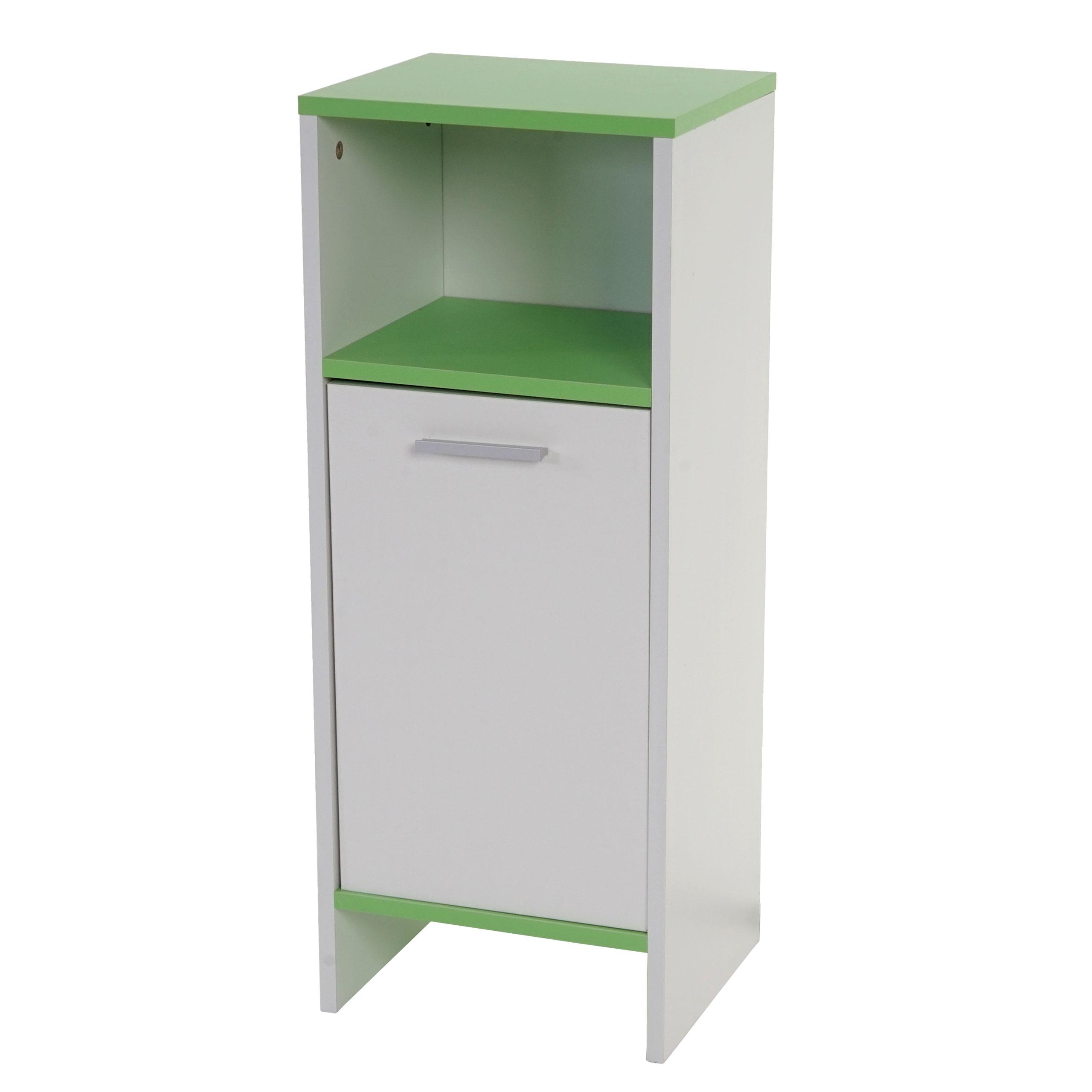 Kommode Arezzo, Badezimmerkommode weiß, Böden grün - Kaufen bei ...