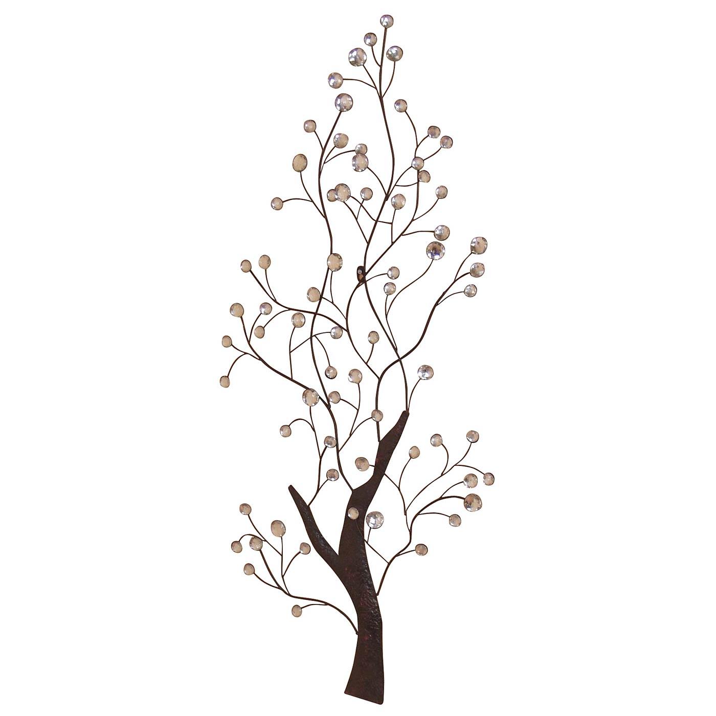 Wanddekoration H52, Wand Deko, 118x50x4cm, Baum