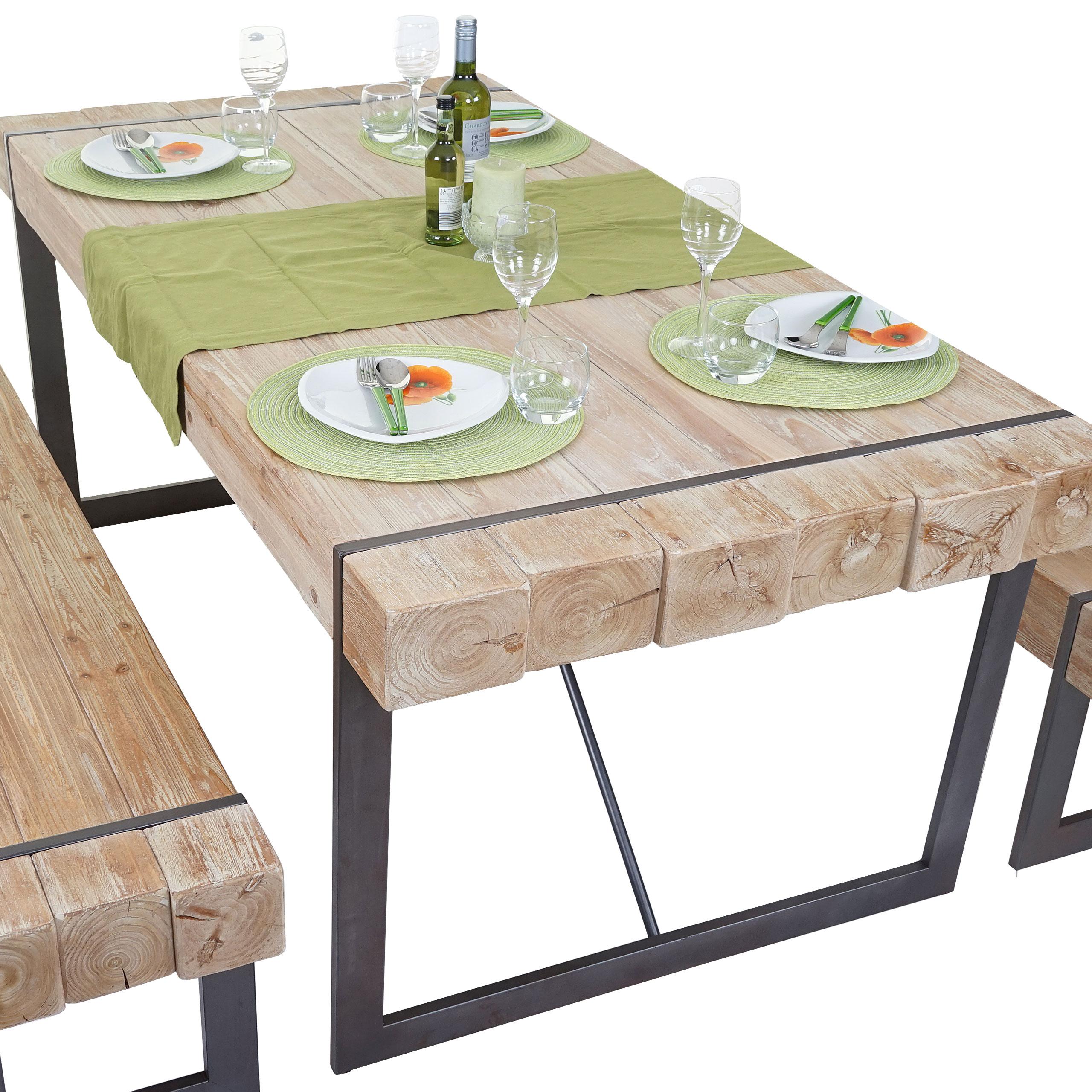 Esszimmertisch HWC A15, Esstisch Tisch, Tanne Holz rustikal massiv