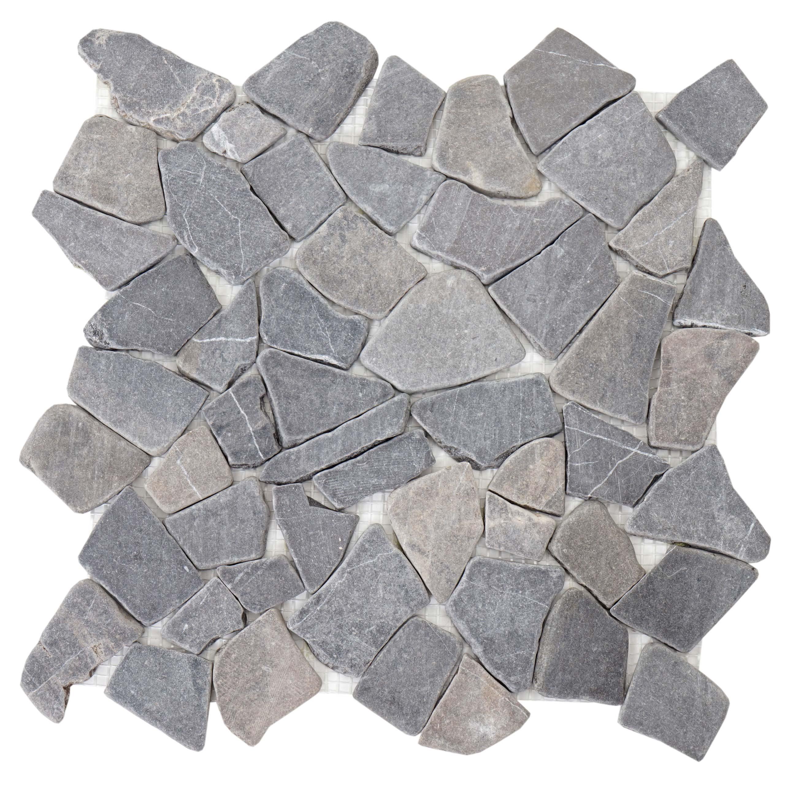 Mendler Steinfliesen Vigo T687 Marmor Naturstein-Fliese Mosaik 11 St/ück je 30x30cm = 1qm ~ Creme-wei/ß