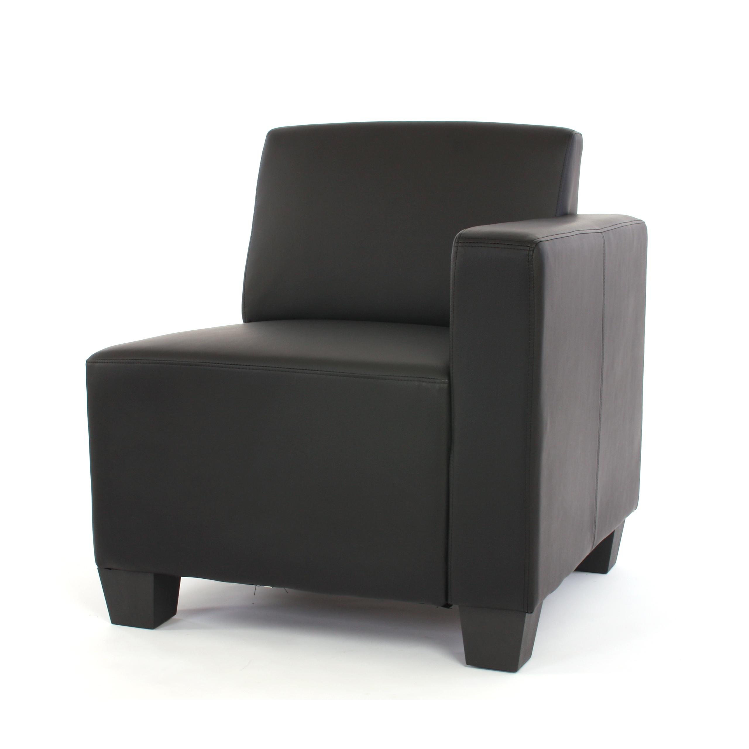 Anspruchsvoll Zweisitzer Sofa Foto Von Modular Couch Lyon, Kunstleder 3