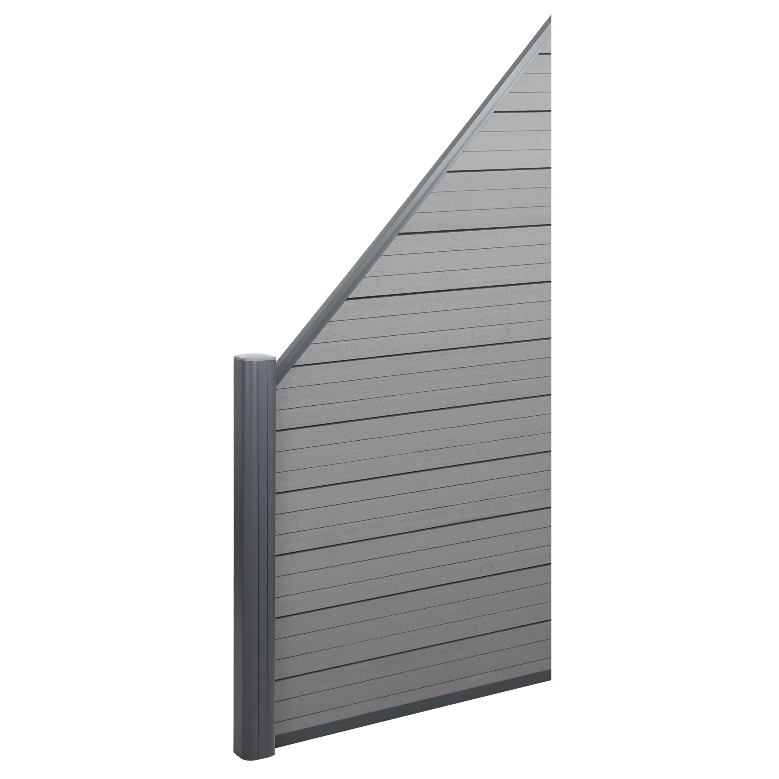 6er T-Winkelset Alu Zaunbefestigung Schrauben für Alu Pfosten WPC Sichtschutz