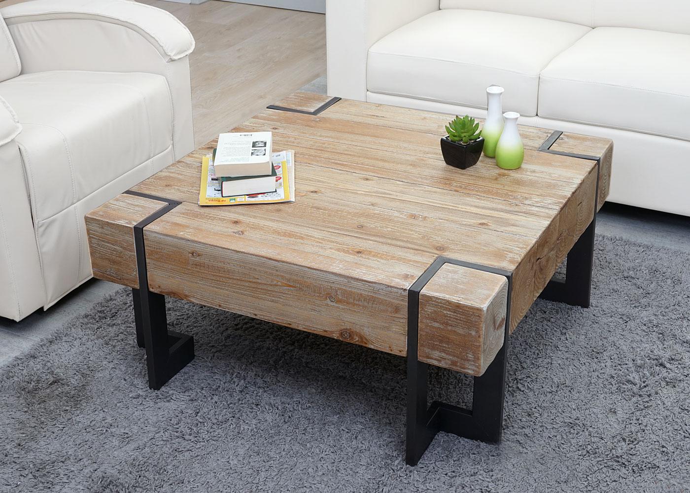 Couchtisch Hwc A15 Wohnzimmertisch Tanne Holz Rustikal Massiv