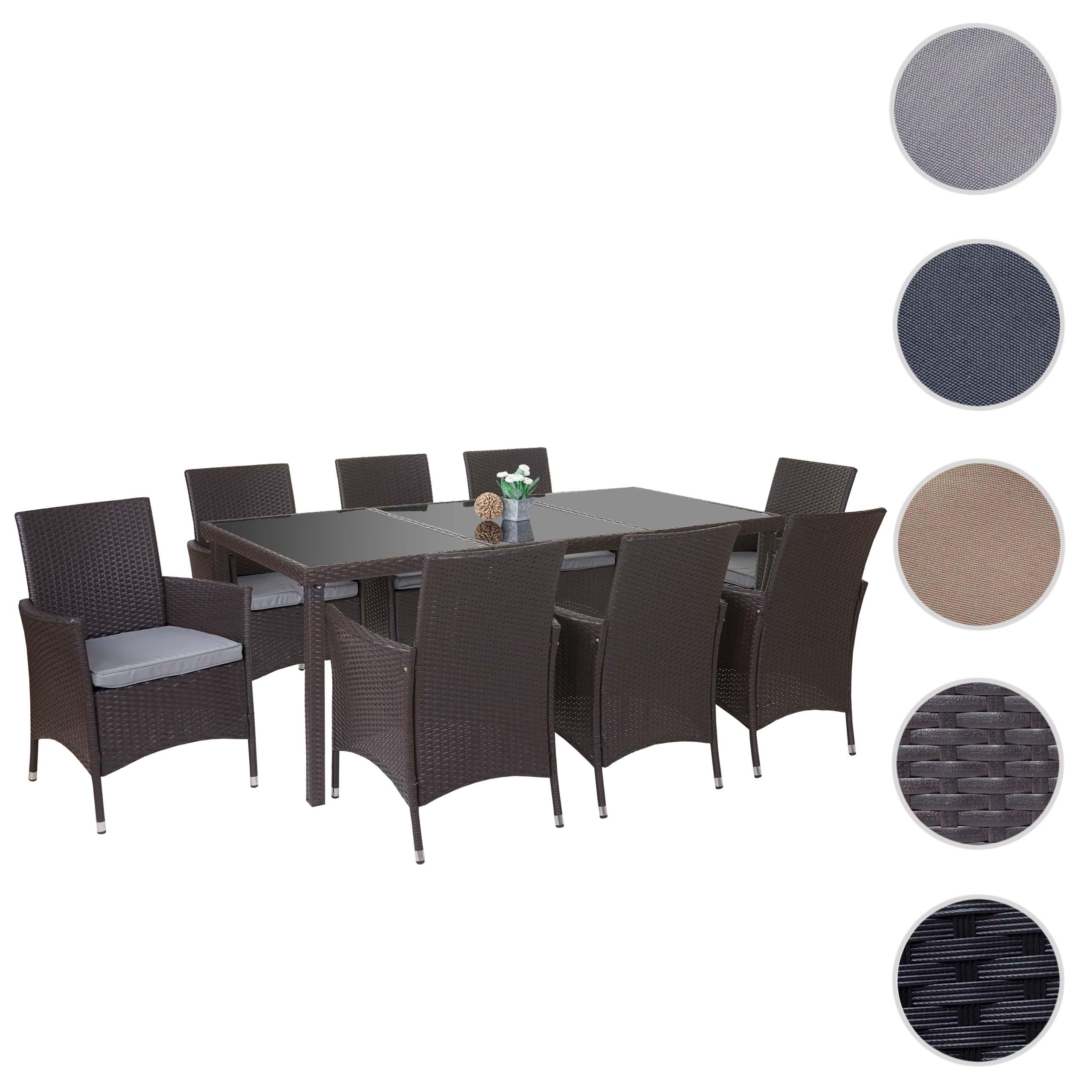 Mendler Poly Rattan Gartentisch Cava Esstisch Tisch Mit Glasplatte