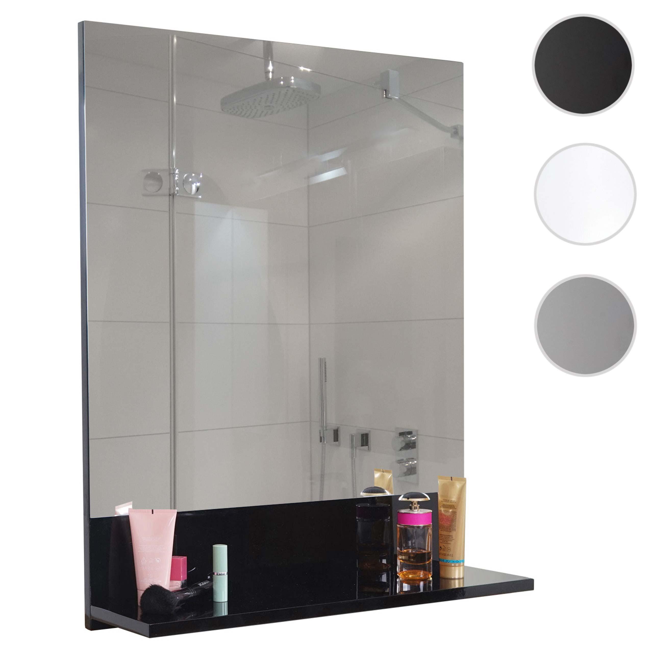 Wandspiegel mit Ablage HWC-B19, Badspiegel Badezimmer, hochglanz ...