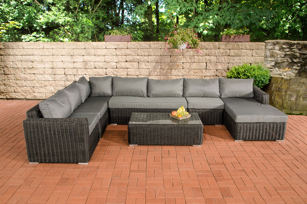Rattan ecksofa lounge  Sofa-Garnitur CP054, Lounge-Set Gartengarnitur, Poly-Rattan - Kaufen ...