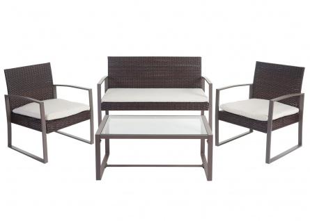 2-1-1 Poly-Rattan Garten-Garnitur Siana, Sitzgruppe incl. Kissen, extra breite Sitze - Vorschau 5