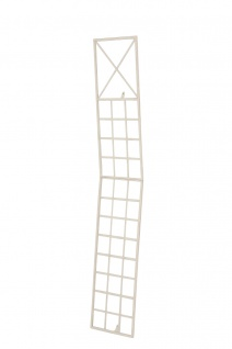 Wandrankhilfe CP370, Rankhilfe Rankgitter, Eisen ~ 198cm, antik-creme