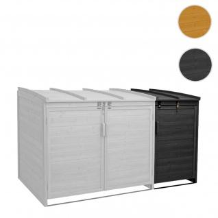 XL 1er-/2er-Mülltonnenverkleidung Erweiterung HWC-H75, Mülltonnenbox, 116x66x92cm Holz FSC-zertifiziert ~ anthrazit