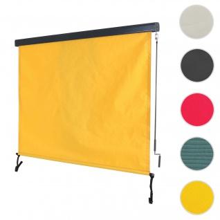 Vertikalmarkise HWC-F42, Senkrechtmarkise Sichtschutz Außenrollo Rollo, UV-Schutz 50 Stoff ~ 250x180cm, gelb