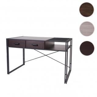 Schreibtisch HWC-H91, Bürotisch Computertisch, Industrial 76x120x70cm ~ dunkelbraun