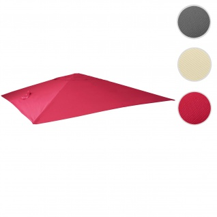 Bezug für Luxus-Ampelschirm HWC-A96, Sonnenschirmbezug Ersatzbezug, 3, 5x3, 5m (Ø4, 95m) Polyester 4kg ~ bordeaux