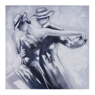 Ölgemälde Tanzpaar, 100% handgemaltes Wandbild Gemälde XL, 80x80cm - Vorschau 4