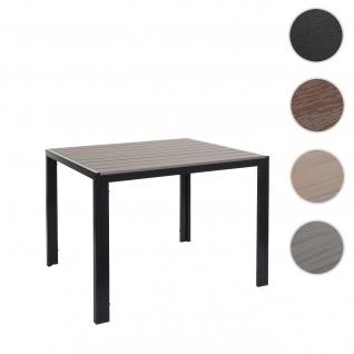 Gartentisch HWC-F90, Bistrotisch, WPC-Tischplatte 90x90cm ~ grau