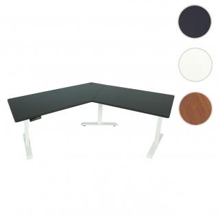Schreibtisch HWC-D40, Computertisch, 120° elektrisch höhenverstellbar ~ schwarz, weiß