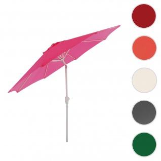 Sonnenschirm N19, Gartenschirm, Ø 3m neigbar Polyester/Alu 5kg ~ pink