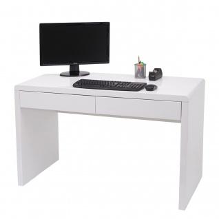 Schreibtisch HWC-G51, Bürotisch Computertisch Arbeitstisch, Hochglanz Weiß ~ 100x60cm