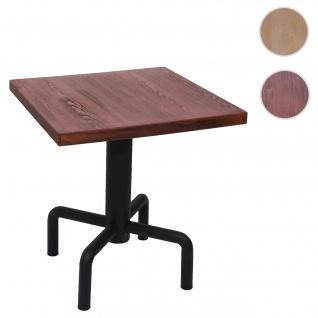 Bistrotisch HWC-G68, Beistelltisch Bartisch Loungetisch, Gastro-Qualität industrial 73x70x70cm ~ vintage braun