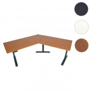 Schreibtisch HWC-D40, Computertisch, 120° elektrisch höhenverstellbar ~ natur, anthrazit-grau