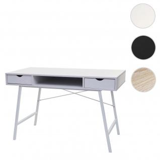 Schreibtisch HWC-E92, Bürotisch Computertisch, 3D-Struktur 120x60xcm ~ weiß