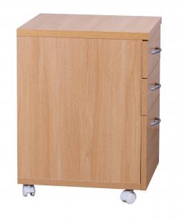 Rollcontainer A092, Rollschrank Bürocontainer, 60x48x40cm - Vorschau 5