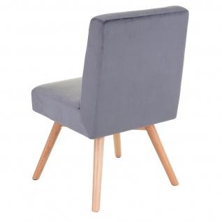 6x Esszimmerstuhl HWC-F38, Stuhl Küchenstuhl, Retro Design Samt - Vorschau 5