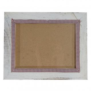 Bilderrahmen T247, Fotorahmen Wand-Rahmen, 19x24cm Shabby-Look Landhaus ~ weiß