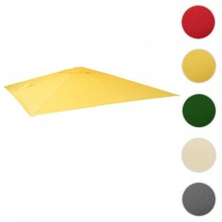 Bezug für Luxus-Ampelschirm HWC-A96, Sonnenschirmbezug Ersatzbezug, 3, 5x3, 5m (Ø4, 95m) Polyester 4kg ~ gelb