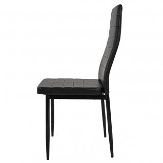 6x Esszimmerstuhl Lixa, Stuhl Küchenstuhl, Kunstleder schwarz - Vorschau 4
