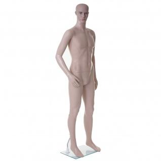 Schaufensterpuppe HWC-E37, männlich Mann Schaufensterfigur Puppe Mannequin Schneiderpuppe, lebensgroß beweglich 185cm
