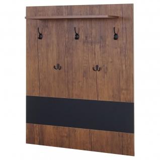 Wandgarderobe HWC-A27, Garderobe Garderobenpaneel, 5 Haken 100x80cm 3D-Struktur, Wildeiche-Optik