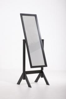 Standspiegel CP545, Ankleidespiegel Spiegel, Holz ~ schwarz
