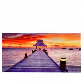 Glasbild T115, Wandbild Poster Motiv, 50x100cm ~ Steg