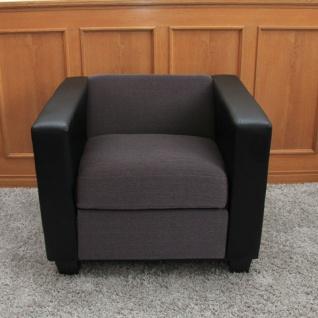 Sessel Lounge-Sessel Lille, Kunstleder Stoff/Textil schwarz/anthrazit
